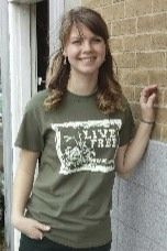 Women's T-shirt olive - Short sleeve - spring style fashion @ Black Bear Trading Asheville N.C.