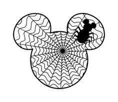 HALLOWEEN MICKEY MOUSE SPIDER WEB CLIP ART