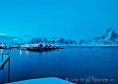 Hamnoy pre-dawn in the Lofoten, Norway by Lesley Gooding