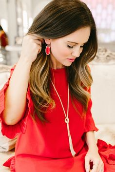 Red Dress / Kendra Scott Jewels // The American Heart Association #goredforwomen