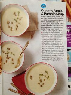 Apple parsnip soup from Every Day with Rachael Ray  Oct 2014