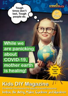 Monthly DIY Magazine for Kids Aged 5 plus (May 2020) Planning Cycle, World Environment Day, Magazines For Kids, Tough Times, Mother Earth, Diy For Kids, Special Gifts, Activities, Age