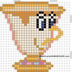 MeGustaHAMABEADS.com: Hama Beads Chip de La Bella y la Bestia