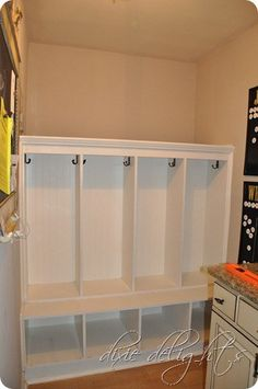 Exactly what I need for the mudroom. Countertop Paint Kit, Mud Room Garage, Moving Day, Upper Cabinets, Built Ins, Mudroom, Furniture Making, Home Projects, Shelving