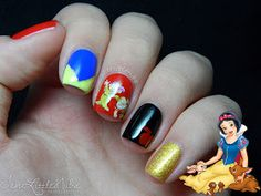 Ten Little Nubs: Snow White - Disney Princess Nail Art Challenge
