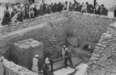 Tutankhamun's tomb, pictured here while treasures are removed after its discovery in 1922, will be searched with radar scans for any hidden passages which may exist