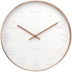 Mr White Numbers Copper Clock - Large