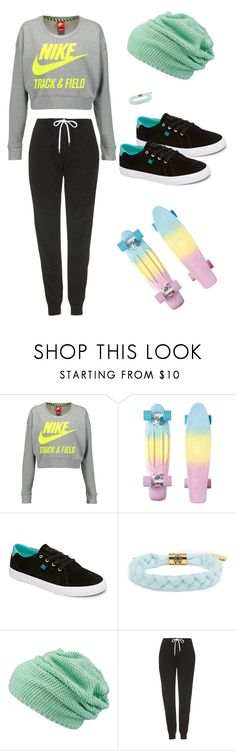"""""""Do you want to make skateboard with me ?"""" by emiliefrenchgirl ❤ liked on Polyvore featuring NIKE, DC Shoes, maurices, Topshop and 37"""