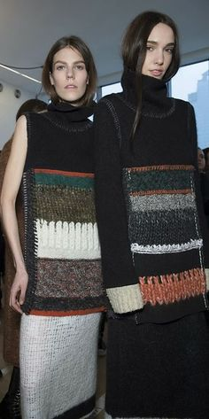 The Darker Horse: Knit Collage: Calvin Klein Fall/Winter 2014