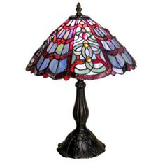 @Overstock - Add extra light to any living room corner with this Tiffany-style red and green table lamp. The elegant stained glass shade is accented by amber jewels, giving this already unique lamp added visual appeal. It is perfect as a reading lamp.http://www.overstock.com/Home-Garden/Tiffany-style-Red-Green-Table-Lamp/1585876/product.html?CID=214117 $72.37