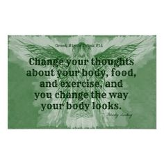 Green Fitness Angel! Print