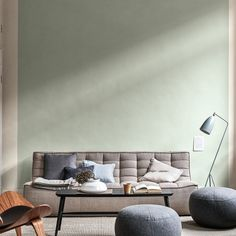 Paint trends 2020 - the colours you need for wonder walls from all shades of green, including mint and emerald, to soft dusky pinks. Best Paint Colors, Wall Colors, Room Colors, Living Room Trends, Living Room Decor, Bedroom Decor, Pantone, Home Office, Dulux Valentine