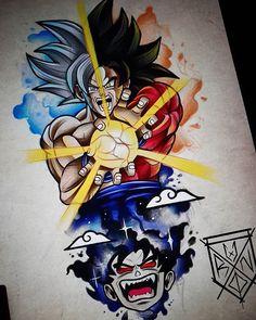 art photography - More Dragon Ball in your life 😍🔥 Cartoon Tattoos, Anime Tattoos, Dragon Ball Gt, Foto Do Goku, Z Tattoo, Mickey Mouse Wallpaper, O Pokemon, Spiritus, Flash Art