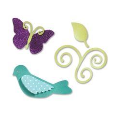 Sizzix Sizzlits Die Set 3PK - Birds & Butterflies Set $19.99