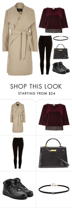 """""""Ready"""" by ule-graphics ❤ liked on Polyvore featuring River Island, Hermès and NIKE"""