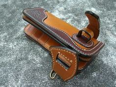 Tan and Brown Handmade Long Wallet Biker by HardyLeather on Etsy