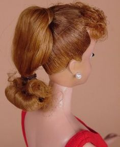 Ponytail Barbie, Titian - Side View, c. 1962