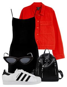 """Untitled #135"" by sofiaosousa on Polyvore featuring Boohoo, Le Specs and adidas"