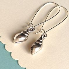 $7.00 SHELL EARRINGS by MimiJewels on Etsy, click www.etsy.com/listing/182820685/shell-earrings?ref=shop_home_active_1