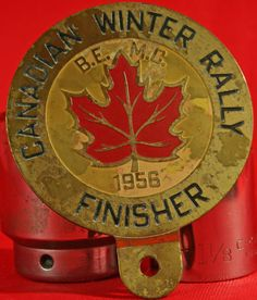 1956 CANADIAN WINTER RALLY FINISHER CAR BADGE