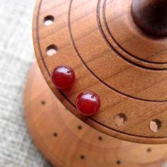Carnelian Sterling Silver 6mm Ball Stud Earrings