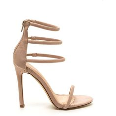 TAN Total Triple Threat Strappy Heels (549.915 VND) ❤ liked on Polyvore featuring shoes, pumps, tan, open toe ankle strap pumps, strappy stilettos, strap pumps, ankle strap stilettos and high heel pumps