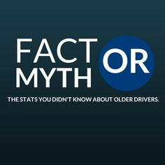 """Fact or Myth. What you didn't know bout older drivers.  Though there is a stigma about older drivers being """"unsafe"""" on roads, studies actually show that older drivers are some of the safest drivers on the road today.  By 2030, 1 out of 5 drivers will be 65 years of age or older....  Keep Reading: - http://www.zacharlawblog.com/2013/09/fact-or-myth-surprising-stats-about-older-drivers-.html"""