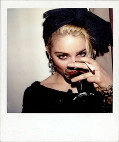 "Madonna, at Danceteria in New York, 1983 by Maripol Maripol helped develop Madonna's ""look"" during her ""Boy Toy"" and ""Like a Virgin"" phases - the crucifixes, jewelry, black rubber bracelets, skimpy skirts and bodice-revealing blouses. They were friends, part of the same ""downtown"" scene in New York in the 1980s. Maripol's pictures are an extension of her determination to make a connection, to celebrate her friends, and to capture and preserve precious moments."