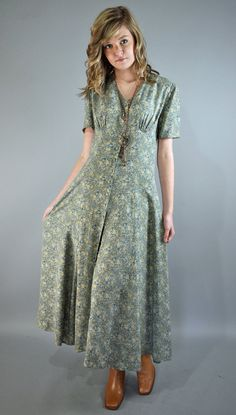 laura ashley dress ... I loved it when dresses were that length !!!