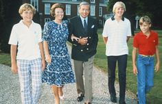After Beatrix's coronation: Queen Beatrix, Prince Claus, Prince Willem-Alexander, Prince Friso, and Prince Constantin