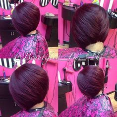 STYLIST FEATURE| #StLouisStylist @beautified_by_thi gives this #bobcut the perfect movement This color is GORG | #VoiceOfHair ========================= Go to VoiceOfHair.com ========================= Find hairstyles and hair tips! =========================