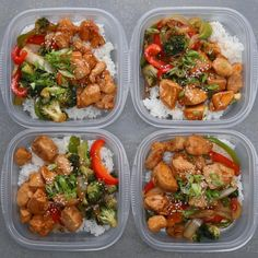 Chicken and Veggie Teriyaki Stir Fry Bowl. Make This For Your Next Weekday Meal Prep fitness, Weekday Meal-prep Chicken Teriyaki Stir-fry Lunch Meal Prep, Healthy Meal Prep, Healthy Eating, Simple Meal Prep, Stir Fry Meal Prep, Fitness Meal Prep, Fitness Diet, Dinner Meal, Healthy Premade Meals