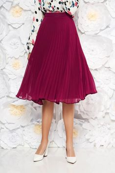 StarShinerS purple elegant cloche skirt voile fabric folded up high waisted, inside lining, voile fabric, folded up, side zip fastening Product Label, Folded Up, Suits You, Body Measurements, Size Clothing, Curvy, Tulle, Bloom, Ballet Skirt