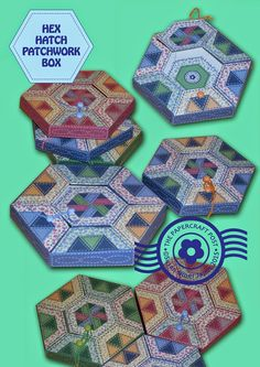 The Papercraft Post: Hex Hatch Patchwork Box