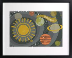 Galactica - @Minted for Dylan's Star Wars room