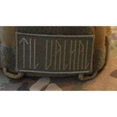 TIL VALHAL Patch (4x8), Grøn/oliven Training Quotes, Viking Age, Special Forces, Vikings, Patches, Culture, Tattoos, Clothes, Ideas