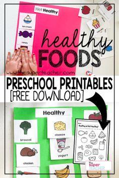Healthy Foods Worksheet [FREE DOWNLOAD]