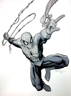 Here's a Spidey commish from a convention. Anyway, it's based on the cover of Avenging Spider-Man and the guy who commissioned it is g. Spiderman Tattoo, Spiderman Drawing, Spiderman Kunst, Spiderman Marvel, Marvel Comics Art, Marvel Comic Universe, Marvel Comic Books, Comic Books Art, Comic Art