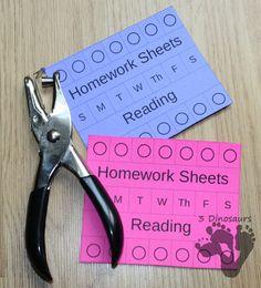 Managing Homework Ideas & Free Homework Punch Cards & Free Desk Help for… Teacher Organization, Teacher Tools, Teacher Resources, 3rd Grade Classroom, School Classroom, Classroom Ideas, Homework Station, Homework Ideas, Reading Homework