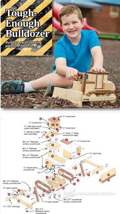 Wooden Toy Bulldozer Plans - Wooden Toy Plans and Projects | WoodArchivist.com