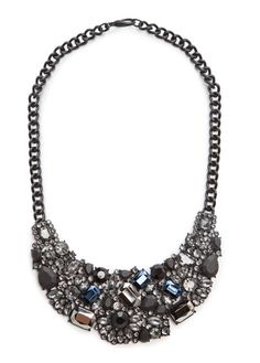 MANGO - Matt stones bib necklace
