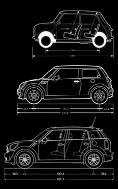 Mini, MINI Hardtop, and MINI Countryman size comparison Love my mini!