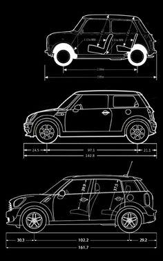 Mini, MINI Hardtop, and MINI Countryman size comparison