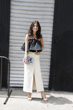 She's the creator of fashion blog Man Repeller and latest curator of MATCHESFASHION.COM's Shop With… initiative - Leandra Medine.