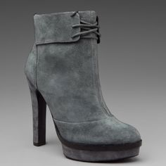Elizabeth and James Gray Suede Booties The suede Mercy booties are brand new (haven't worn once) and pair perfectly with a dress or skinny jeans. Elizabeth and James Shoes Ankle Boots & Booties