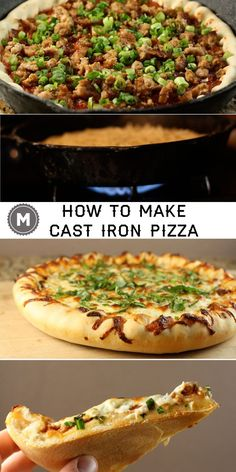 Cast iron pizza means you don't have a pizza stone! Use your cast iron skillet to make really good homemade pizza!
