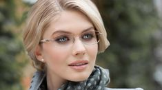 This frame is subtle, but is sure to receive many compliments. If you choose this kind of eyeglasses, get ready to receive questions about where you got them from. New Glasses, Cat Eye Glasses, Prescription Glasses Frames, Rimless Glasses, Eyeglasses Frames For Women, Aviator Glasses, Womens Glasses, Face Shapes, Compliments