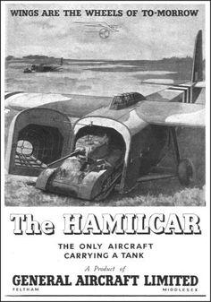 Iconic Aviation Ad General Aircraft Hamilcar 1945