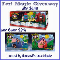 Housewife on a Mission: Fort Magic Giveaway