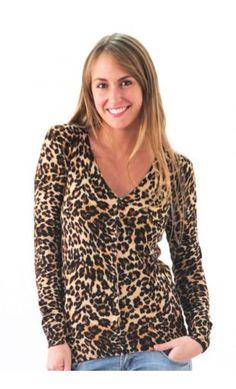 CHALECO ANIMAL PRINT FONDO BEIGE 11762480BEI Blouse, Long Sleeve, Sleeves, Sweaters, Animal, Tops, Women, Fashion, Beige Background